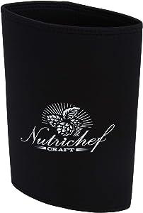 NutriChef Cooler Neoprene Jacket Keeps Your Beer or Beverage Cold for Up to 3 Hours Homebrew Mini Keg, (128oz), PKBRTP100.5 Insulator
