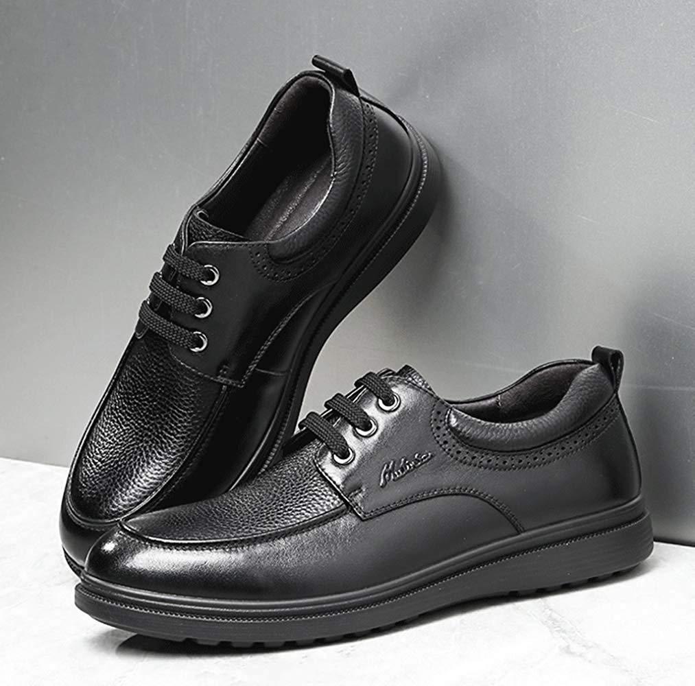 HhGold Männer Schnüren Schuhe Sich Oben Oxford Schuhe Schnüren Verkleiden Sich Business-Schuhe Jugend Täglich Tragen (Farbe   Schwarz, Größe   43EU) 301461