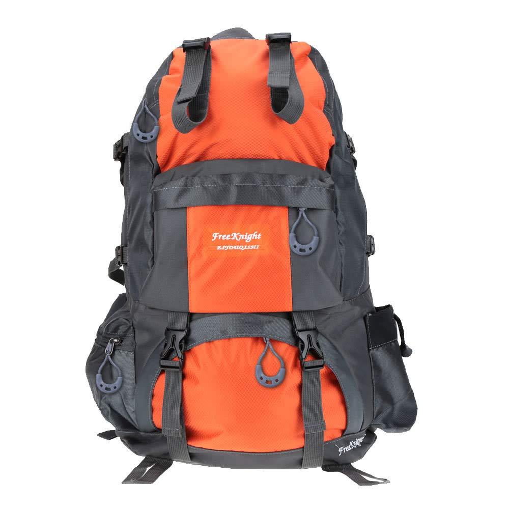 Quarkscm Dingq Dropshipping 50L Outdoor Sport Backpack-Orange Orange US