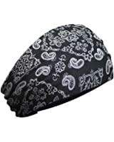 That's A Wrap Women's Foil Bandana Black Paisley Knotty Band, Black KB1624