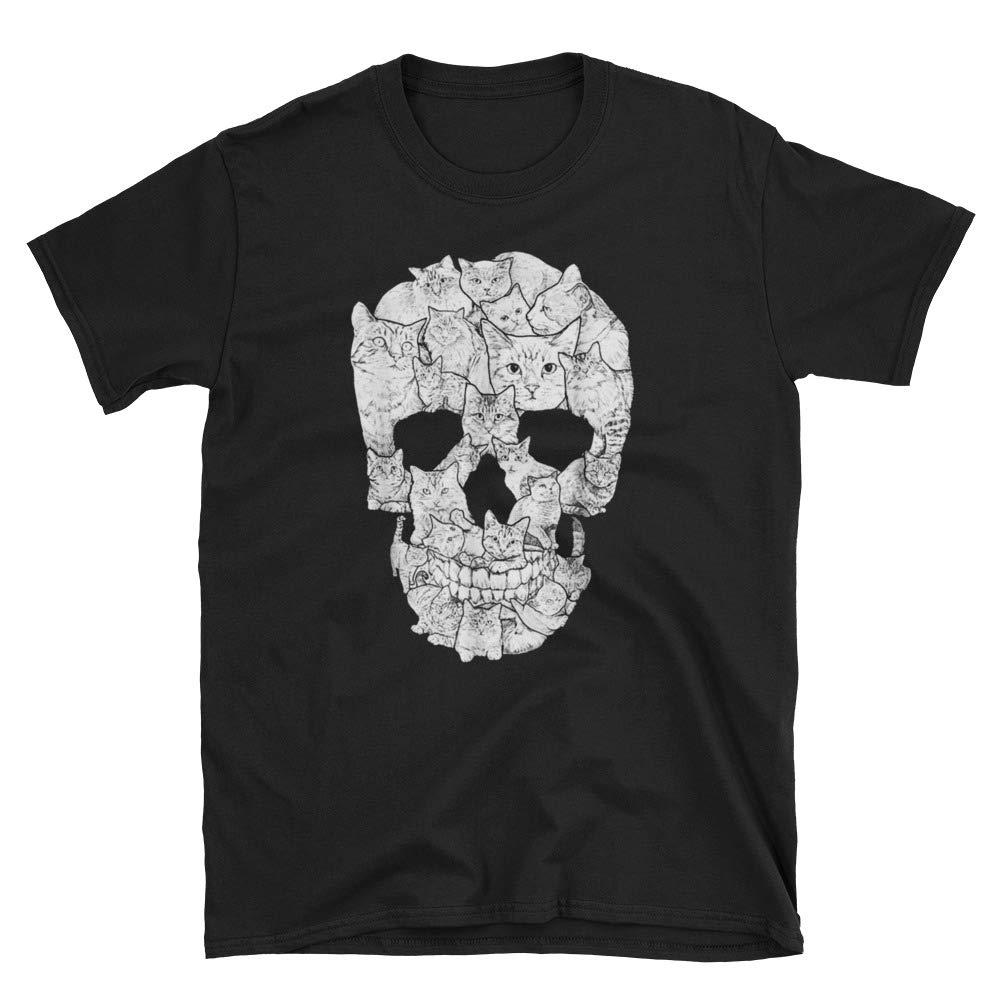 Cat Skull Shirt Cat Lovers Shirt Kitty Skeleton Tee