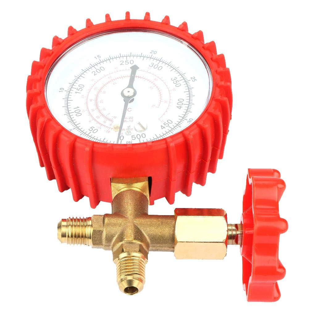 Durable Air Condition Manifold Gauge Manometer/& Valve 500psi 35kgf//cm/² for R12 R502 R22 R410 R134A for Home Manifold Gauge Manometer