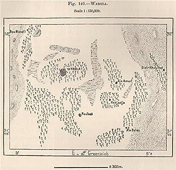 Amazoncom Ouargla WarqlaWargla Algeria Old Map - Ouargla map