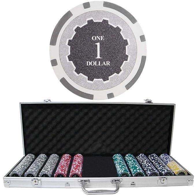Amazon.com: 500 ct eclipse Poker Chip Set w/funda de ...