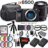 Sony Alpha a6500 Mirrorless Digital Camera (Body Only) International Version (No Warranty) + E PZ 18-200mm f/3.5-6.3 Lens Bundle