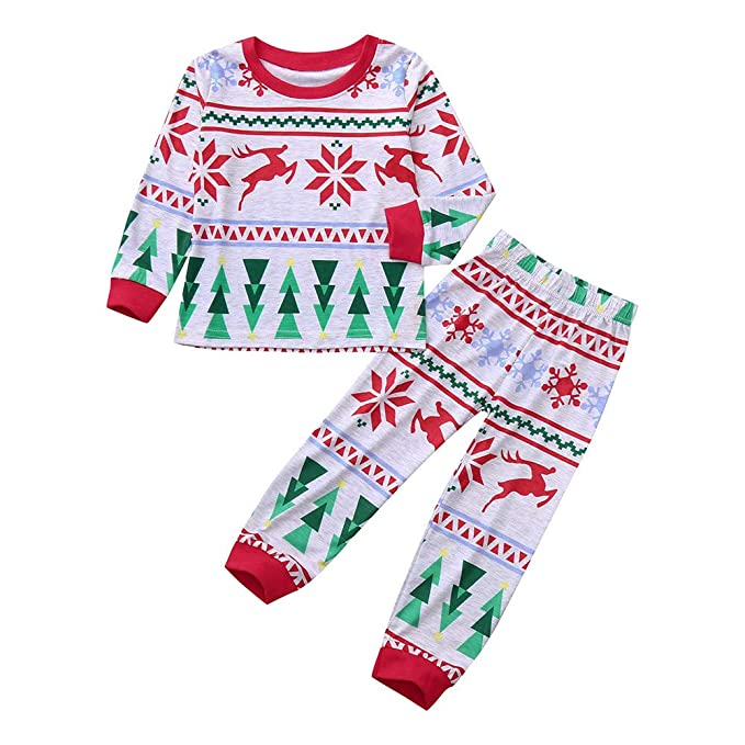 K-youth Ropa Bebe Niño Invierno 2018 Ofertas Infantil Navidad Copo de Nieve Árbol de Navidad Pijama Recien Nacido Bebé Niña Sudaderas Manga Larga Camisetas ...