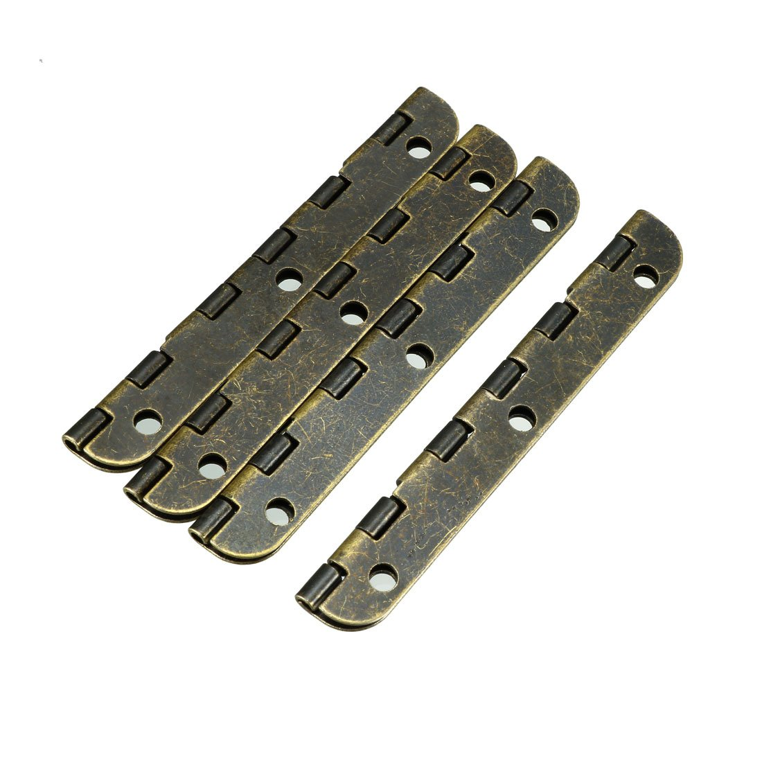 uxcell 2.56 Antique Bronze Hinges Retro Hinge Replacement with Screws 4pcs