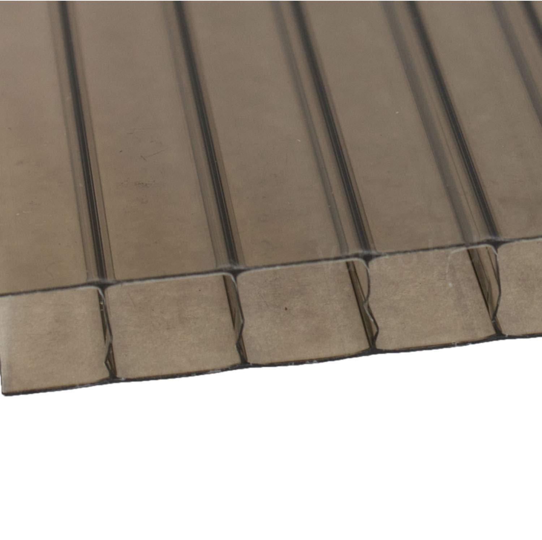 Bronze 1400mmx2000mm Bronze 1400mmx2000mm Polycarbonate Roofing Sheets 10 mm (1400mmx2000mm, Bronze)