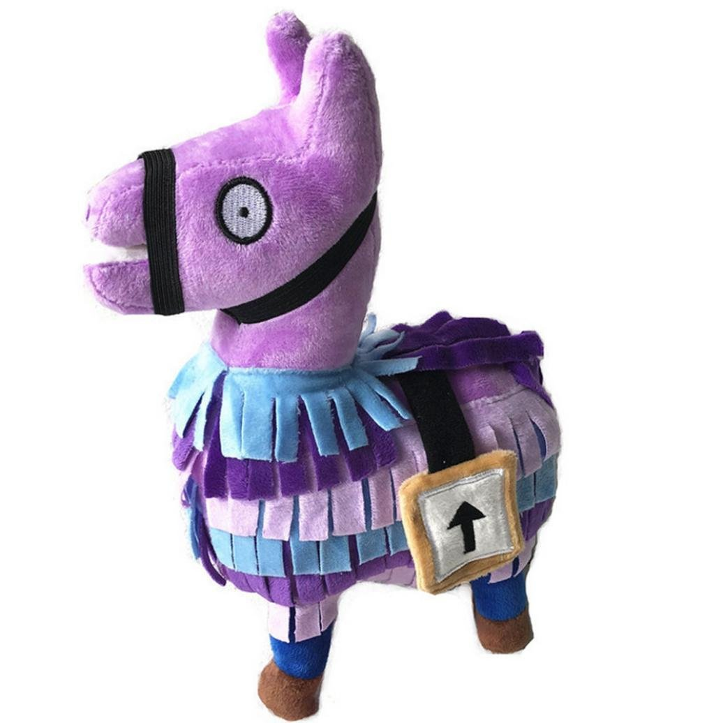 Kanzd 2018 Hot for Fortnite Loot Llama Plush Toy Figure Doll Soft Stuffed Animal Toys (Purple, 35cm)