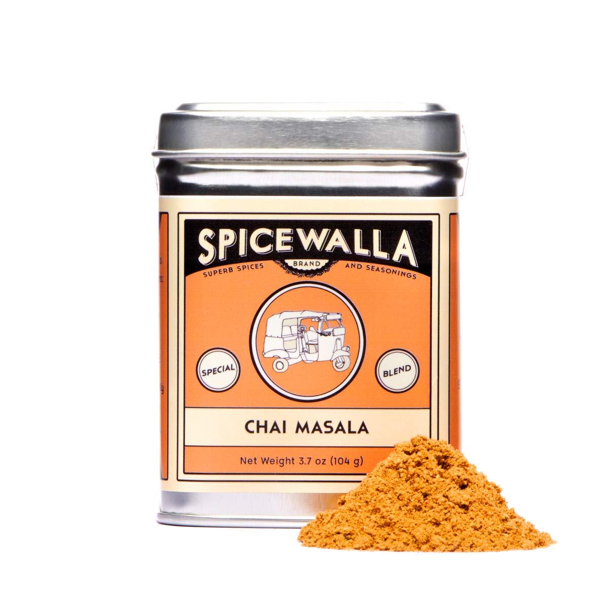 Spicewalla Masala Chai Spice 3.7 oz | Tea, Latte, Coffee, | Powdered Spice Unsweetened