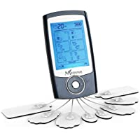 MEDVIVE Rechargeable FDA Cleared Tens Unit with 16 Modes and 8 Pads for Natural Pain Relief and Management, Electric Pulse Impulse Mini Massager Muscle Stimulator