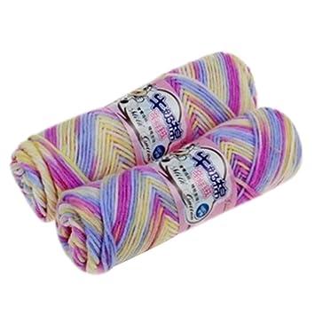 New Bamboo Baby Soft Garn Häkeln Baumwolle Knitting Milch