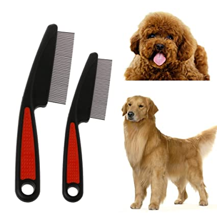 Sbe Pet Dog Comb Remove Fleas Lice With Stainless Steel Hair Grooming Tool For Long Haired Medium Sized Dogs And Cats Free Dropping Large
