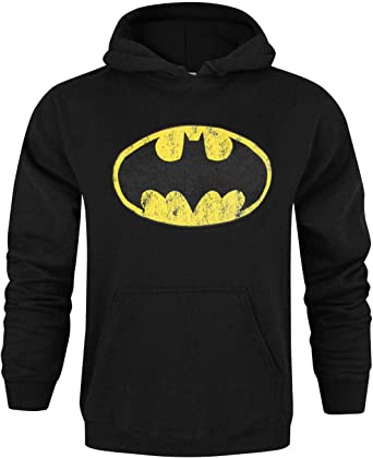 Official Batman Distressed Logo Men's Hoodie
