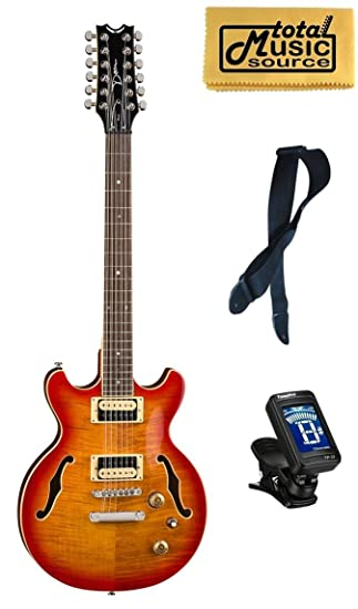 Dean boca guitarra eléctrica de 12 cuerdas, Trans Cherry Burst ...