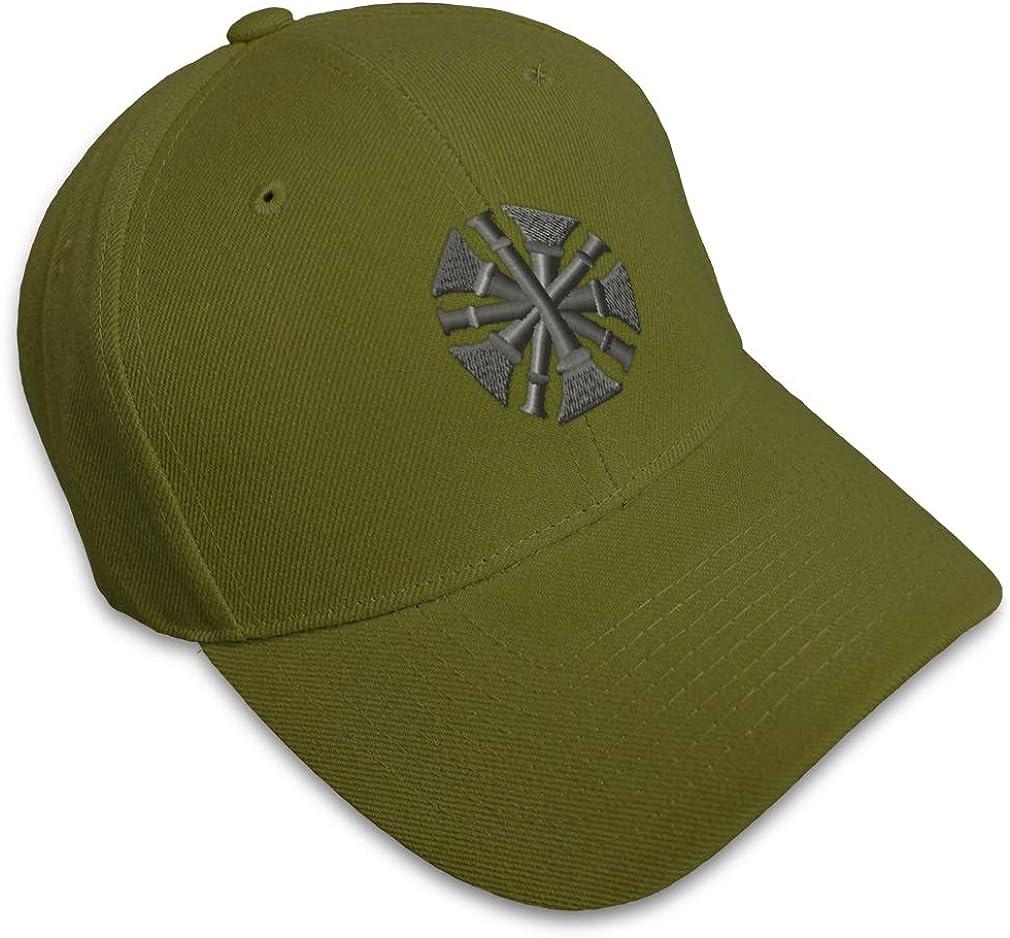 Custom Baseball Cap Firefighter Chief Bugles Gray Embroidery Strap Closure