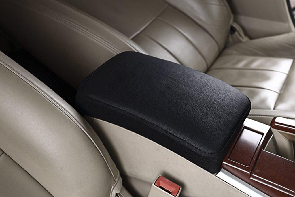 Taille: 29 * 19CM Home mall- Enjoliveur de voiture en tissu Pu Boite Gants en couleur unie // Coussin daccoudoir /À lint/érieur des accessoires de voiture Couleur : Beige