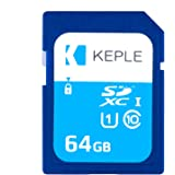 Keple Scheda di Memoria SD da 64 GB Scheda SD ad Alta Velocità per Nikon Coolpix W100, B500, B700 DSLR Digital Cameras | 64GB Storage Class SDCard 10 UHS-1 U1 SDXC Card for HD Videos & Photos