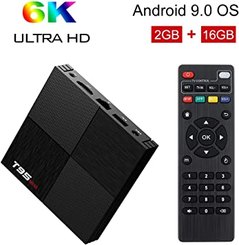 Android TV Box, T95 Mini Android 9.0 TV Box 2GB RAM/16GB ROM H6 ...