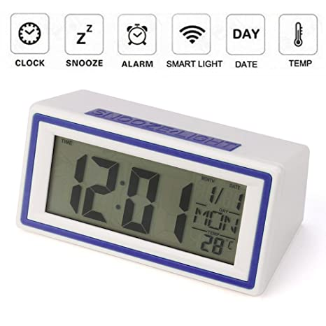 STRIR Reloj despertador digital,Snooze / Light LCD Digital Backlight Alarm Clock,Tiempo de