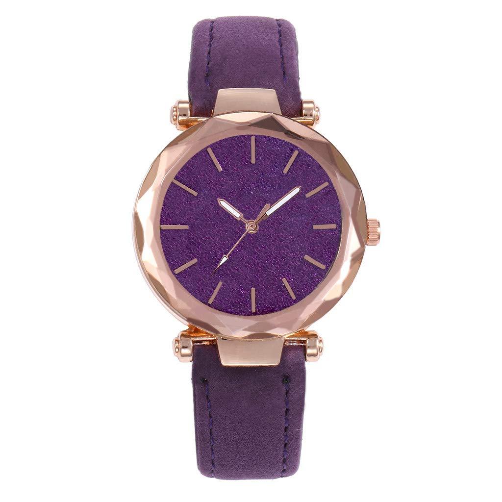 Women's Fashion Wrist Watch Quartz Watches with Leather Steel Band Wristwatch Casual Watch Ladies (F)