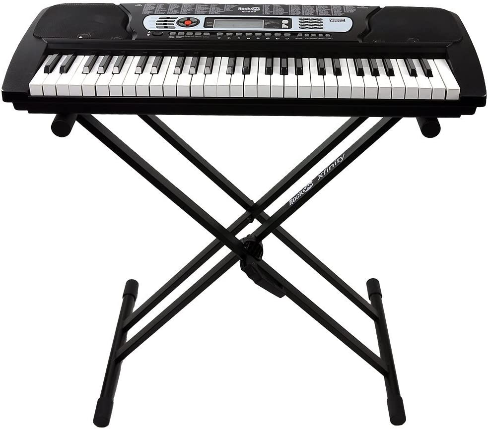 RockJam 54-Key Portable Keyboard with Rockjam Xfinity Heavy Duty Piano Stand