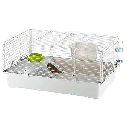 Ferplast Rabbit 100 hábitat de Conejo Jaula, Sistema de Cierre de ...