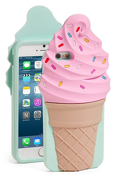 the latest 0b65d fa8df Amazon.com: Kate Spade Cell Phone Case For iPhone 7, Ice Cream Cone ...