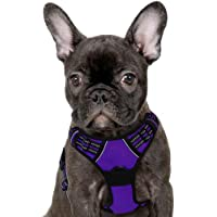 Eagloo No Pull Dog Harness with Front Clip, Walking Pet Harness with 2 Metal Ring and Handle Reflective Oxford Padded…