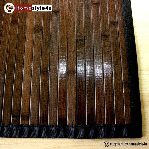 Tapis en bambou Natte de bambou Tapis Bambou 200 x 300 cm brun foncé ...