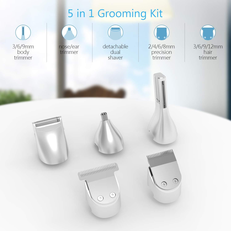 5 in 1 Multi-Functional Groomer Kit of Beard Trimmer, Hair Trimmer & Nose Hair Trimmer