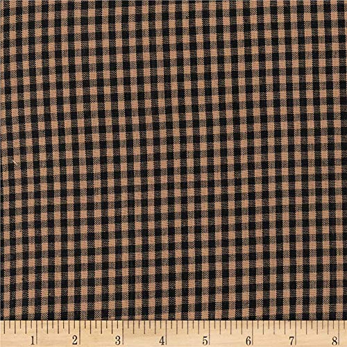 Textile Creations 0565774 Rustic Woven 1/8IN Nat/Black Check Fabric by the Yard (The Fabric Yard By Rustic)