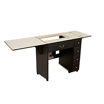 Sewing Table On Wheels.Arrow 901 Auntie Sewing Cutting Quilting And Crafting Portable Sewing Table With Wheels And Airlift Black Finish