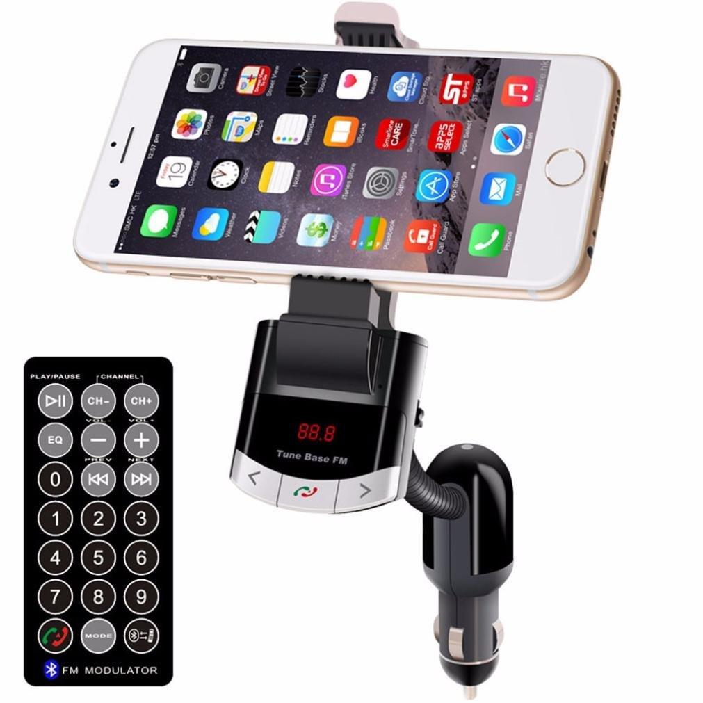 Egmy®Wireless Bluetooth LCD MP3 Player Car USB Multifunctional Car Phone Holder