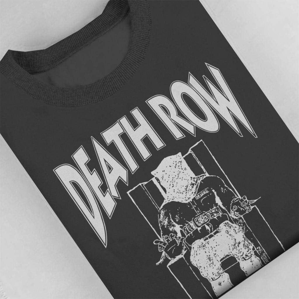 Death Row Records Chair Logo White Mens Sweatshirt