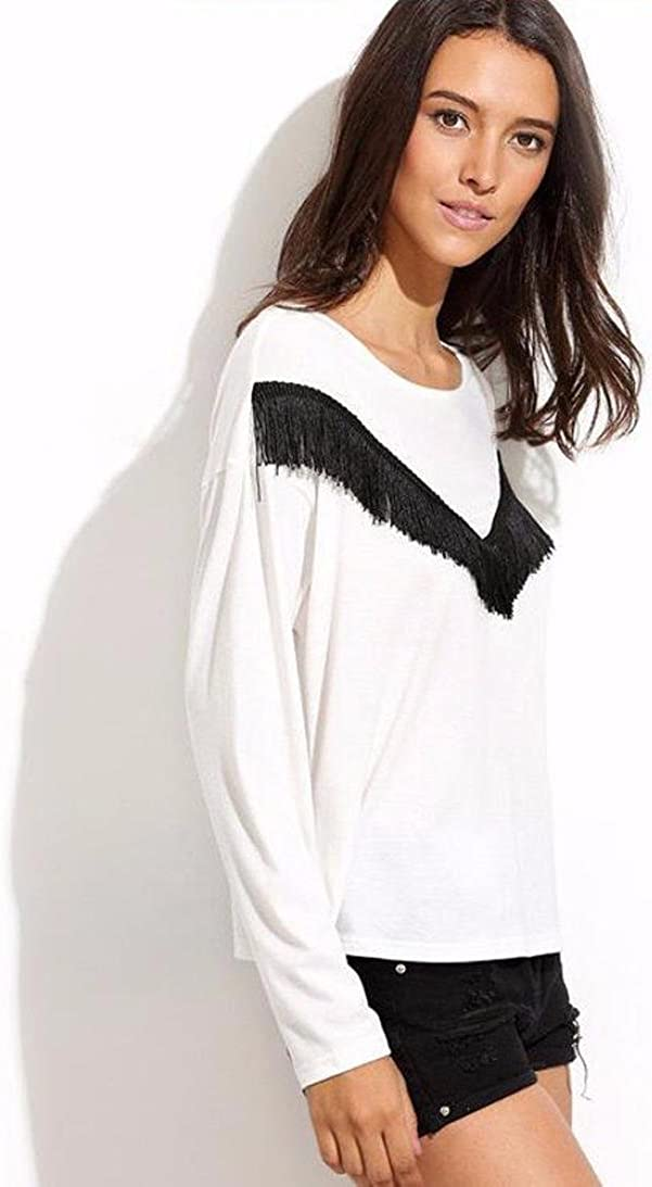 Sunfei Fashion Womens Long Sleeve Round Neck Shirt Blouse Tops