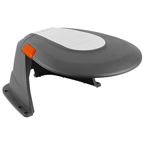 Caseta para robots cortacésped GARDENA: refugio para robot segador, protección del sol y las tormentas, tapa plegable, resistente a las inclemencias ...
