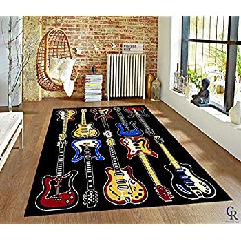 themed bedrooms for adults disney mickey mouse bedroom.htm amazon com modern electric guitars rock and roll music theme area  amazon com modern electric guitars