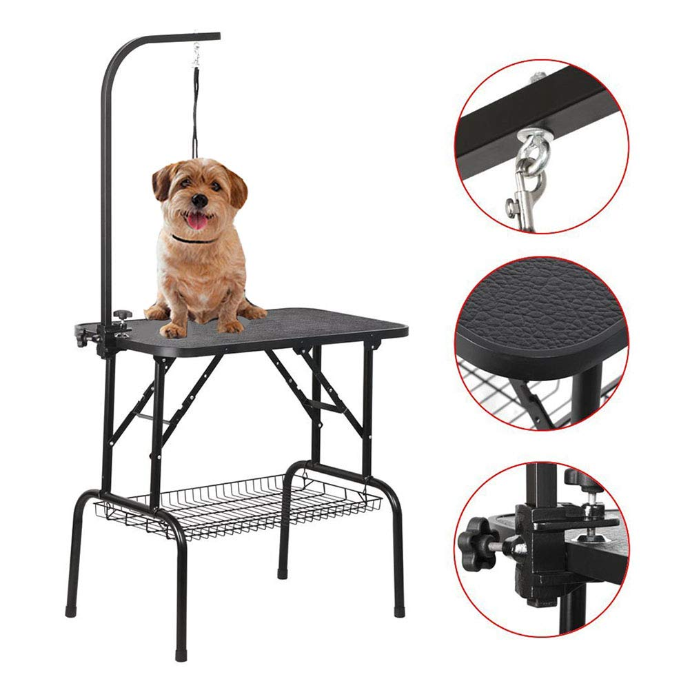 Affordable Dog Grooming Table Arm DJLOOKK Pet Grooming Table Professional Adjustable Grooming Table for Pet  Dog and Cat with Adjustable Overhead Arm and Clamps for Large Heavy Duty  Animal