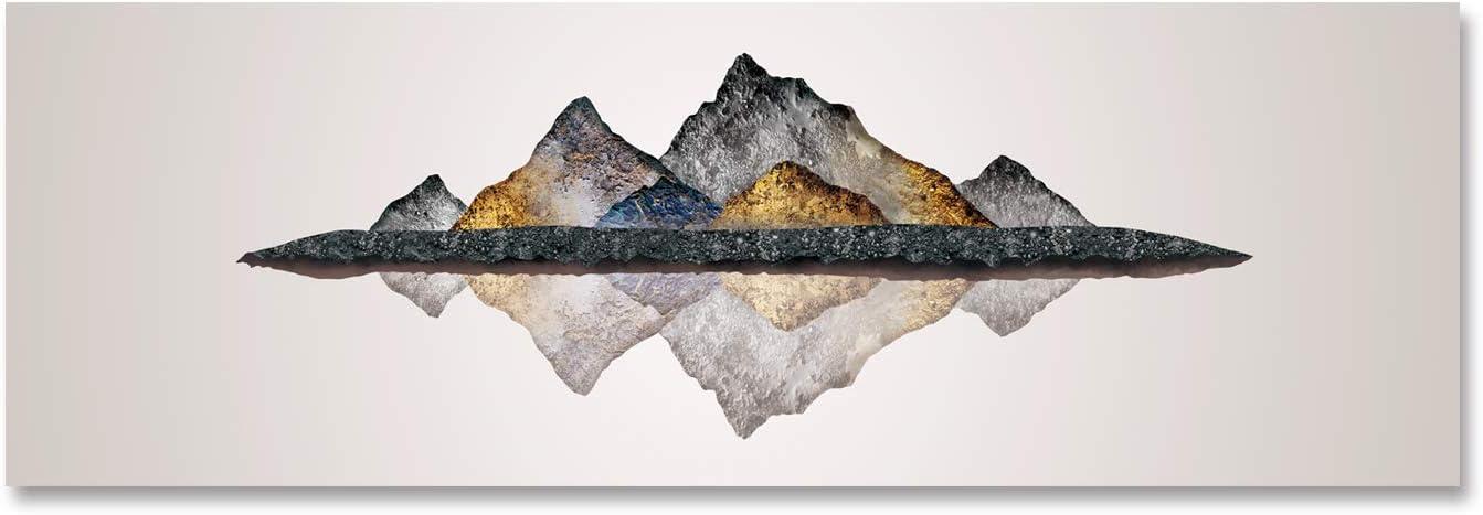 Fajerminart Cuadro En Lienzo - Paisaje de montaña Reflexión Cuadros Abstractos Impresiones sobre Lienzo, Lienzos Decorativos Utilizado para Cuadros Dormitorios 50x150cm (Sin Marco)