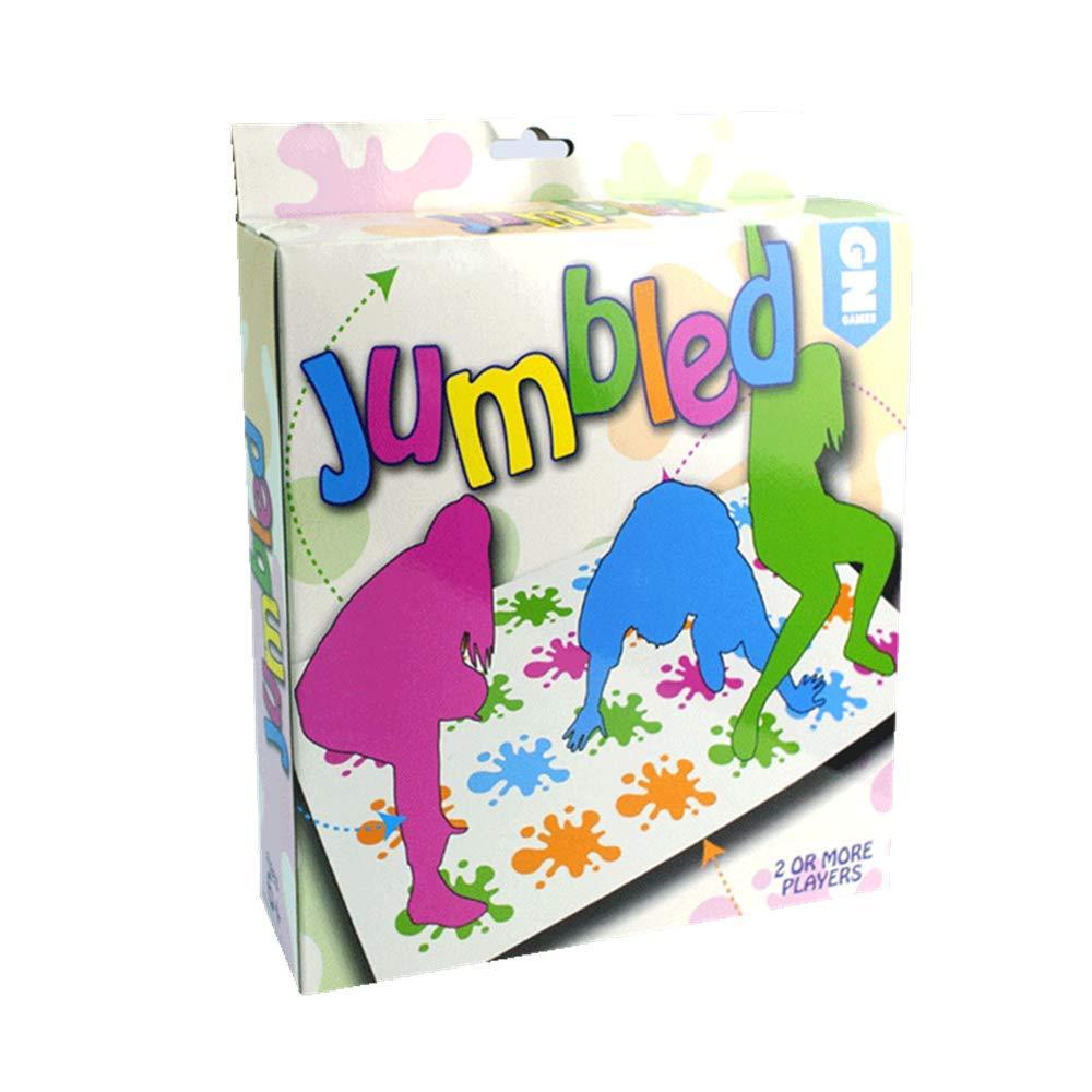 LANDOR Twister Spiel, Bodenspiele Körper Twister Spiel Requisiten Multiplayer Party Eltern-Kind Interaktives Spiel Spielzeug Outdoor Sport Spiele Spielzeug (Spritzer)