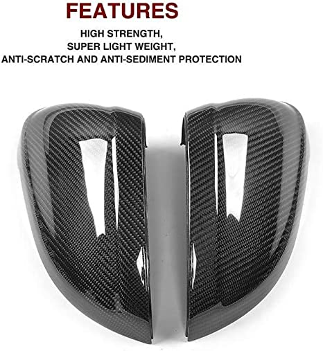 Suuonee Rearview Mirror Cover Cap 1Pair Carbon Fiber Car Rearview Mirror Frame Trim for A4 A5 S4 S5 B9