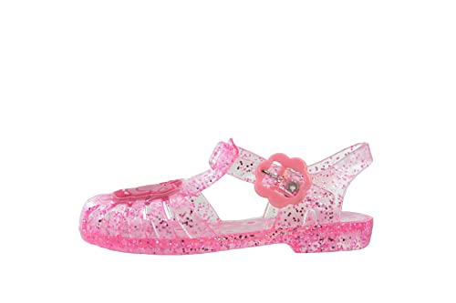 5437ac200291 Peppa Pig Girls Glitter Pink Jelly Sandals Beach Kids Summer UK Infant Size  3