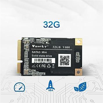 Fancylande Disco Duro Externo Portátil Disco Duro SSD wisca Unidad de Estado Sólido 32 G 1,8 Mini mSATA Interfaz Sólido Escritorio de Ordenador Portátil de ...