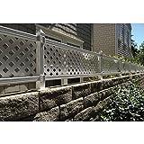 1 ft. H x 4 ft. W White Modular Vinyl Lattice Fence Panel (4-Pack)