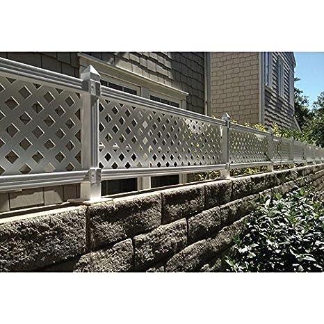 1 Ft H X 4 Ft W White Modular Vinyl Lattice Fence Panel 4 Pack Amazon Co Uk Welcome