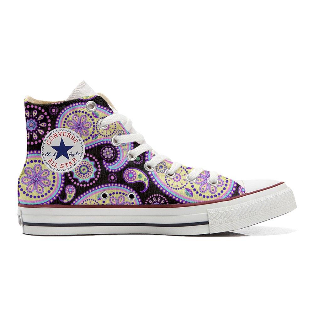 Converse Star All Star Converse Hi Personnalis eacute; et Imprim eacute;s Chaussures Coutume, Basket Unisex Produit Italien Artisanal Flowery Paisley - B01N22M9FJ - Baskets mode 68c669