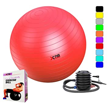 Xn8 Sports - Pelota de yoga, 75 cm, antiexplosiones, ideal ...