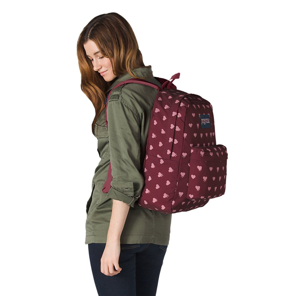 Amazon.com | JanSport Superbreak Backpack - Russet Red Bleeding Hearts - Classic, Ultralight | Casual Daypacks
