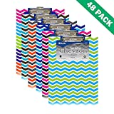 Clipboard With Clip, Pack Of 48 Bazic Low Profile Clipboards Chevron Print
